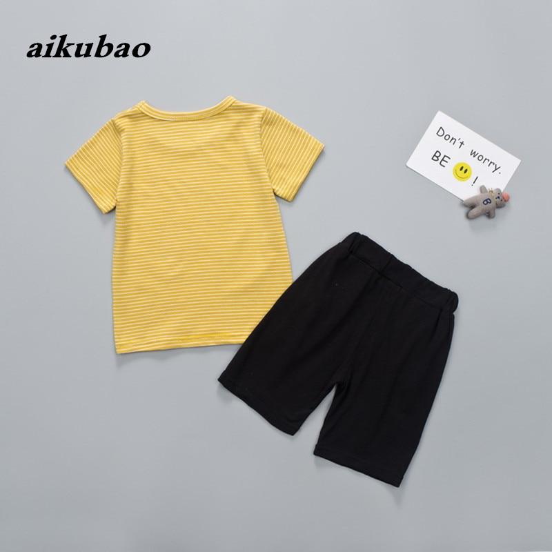 Zomer kinderkleding jongens meisjes zomer kleding T-shirt + broek 2 - Kinderkleding - Foto 3