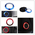 2pcs/pair Aluminium Blue Door Sound Stereo Speaker Cover Trim Ring Decoration For ASX 2013 2014 2015 Car Styling Covers