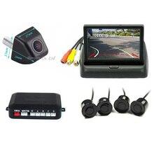 Video Parking Sensor Backup Radar Intelligent Dynamic Trajectory Tracks Rear View Camera 4.3inch LCD Car Rearview Mirror Monitor
