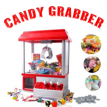 Popular Machine Caught Doll Coin Toy Grabber Machine Claw Mini Slot Game Candy Grabber Fun Practical music Funny Toy Gadget Gift