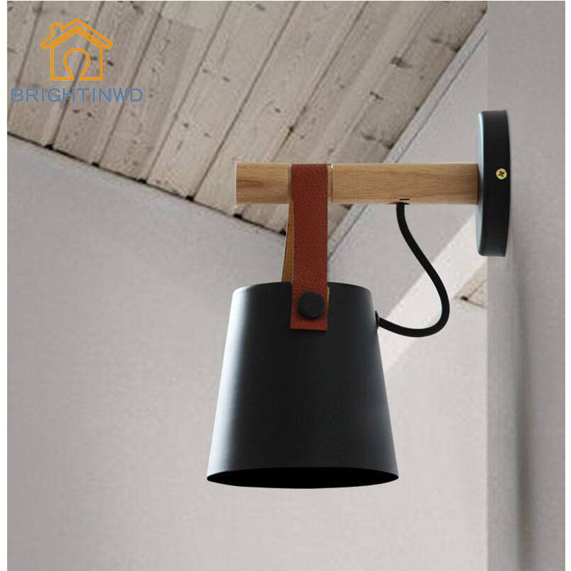 все цены на BRIGHTNWD Nordic Wall Lamp Bedside Lamp Bedroom Modern Living Room Aisle Stairs Simple Iron Belt Wall Lamp LED Light