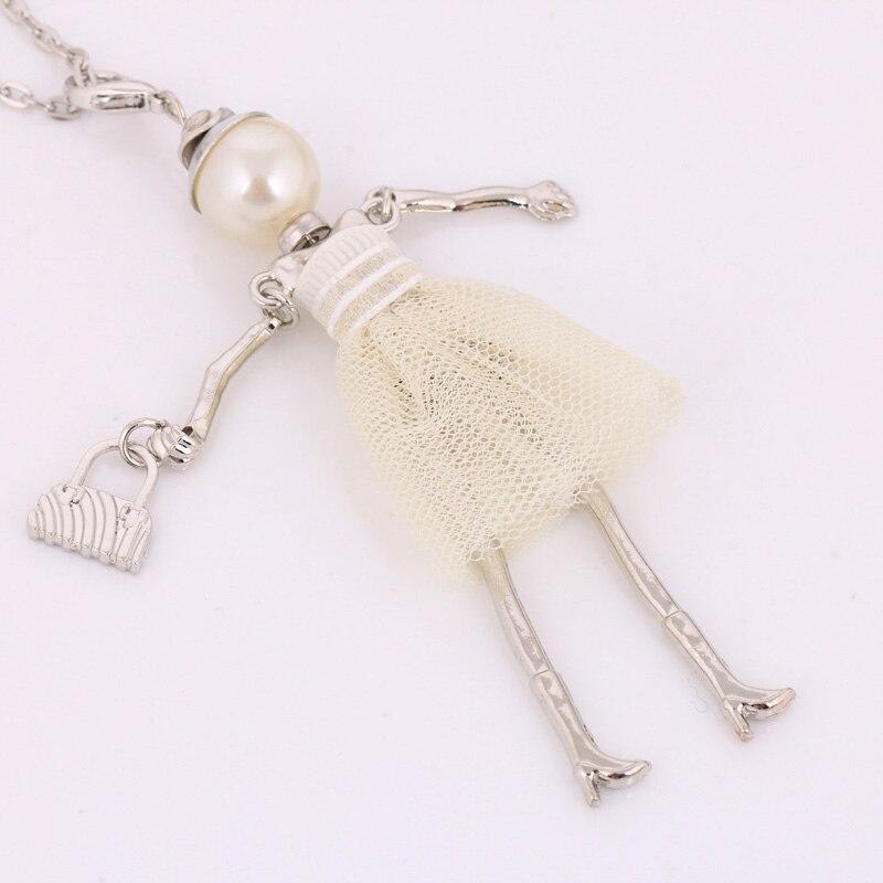 personlighed design dukke halskæde lang kæde vedhæng halskæder - Mode smykker - Foto 2
