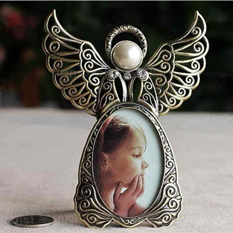 "LanLan Angel Wings Metal Vintage Picture Frames Creative Gifts Frames for Photos 2.87"" x 1.89"""