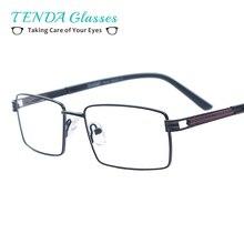 Мужские классические очки металлический прямоугольник очки с весной петля для Близорукость чтения рецепт мультифокальной Objectifs