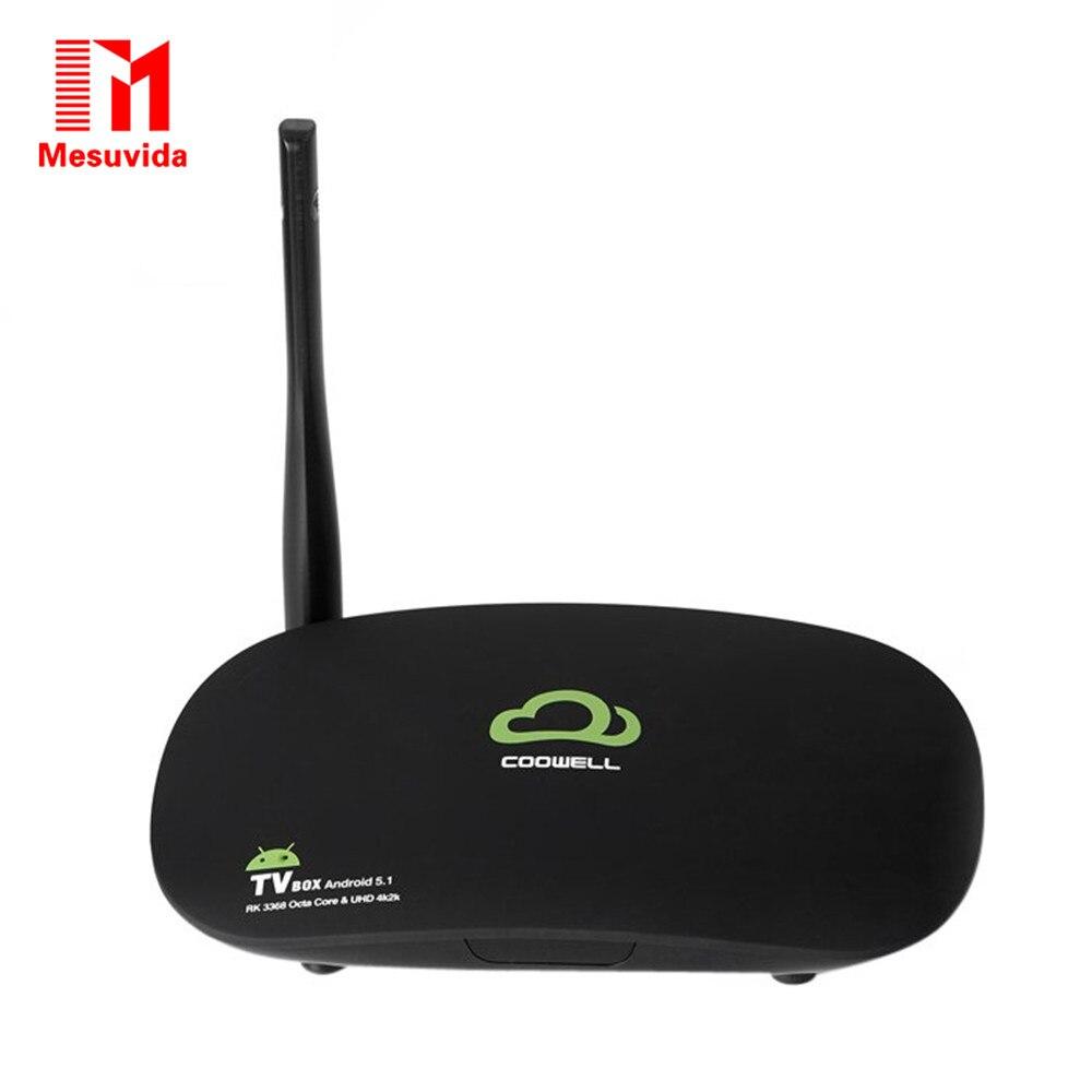 Mesuvida COOWELL V3 Android TV Box H.265 Rockchip 3368 Octa-core 2GB DDR3 RAM 2.4G WiFi Bluetooth 4.0 TV Box Set-Top Box