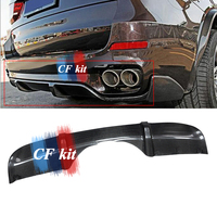 CF Kit Real Carbon Fiber Rear Bumper Diffuser With Splitter Apron For BMW F15 X5 M Tech M Sport Bumper Only 2014 UP Car Styling