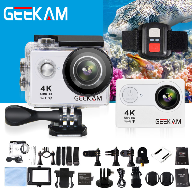 GEEKAM H9R Ultra HD 4k Action Camera Deportiva Cam Accessories 30M Waterproof House Mount Wifi 170 Wide Angle Mini Sport Camera 2017 arrival original eken action camera h9 h9r 4k sport camera with remote hd wifi 1080p 30fps go waterproof pro actoin cam