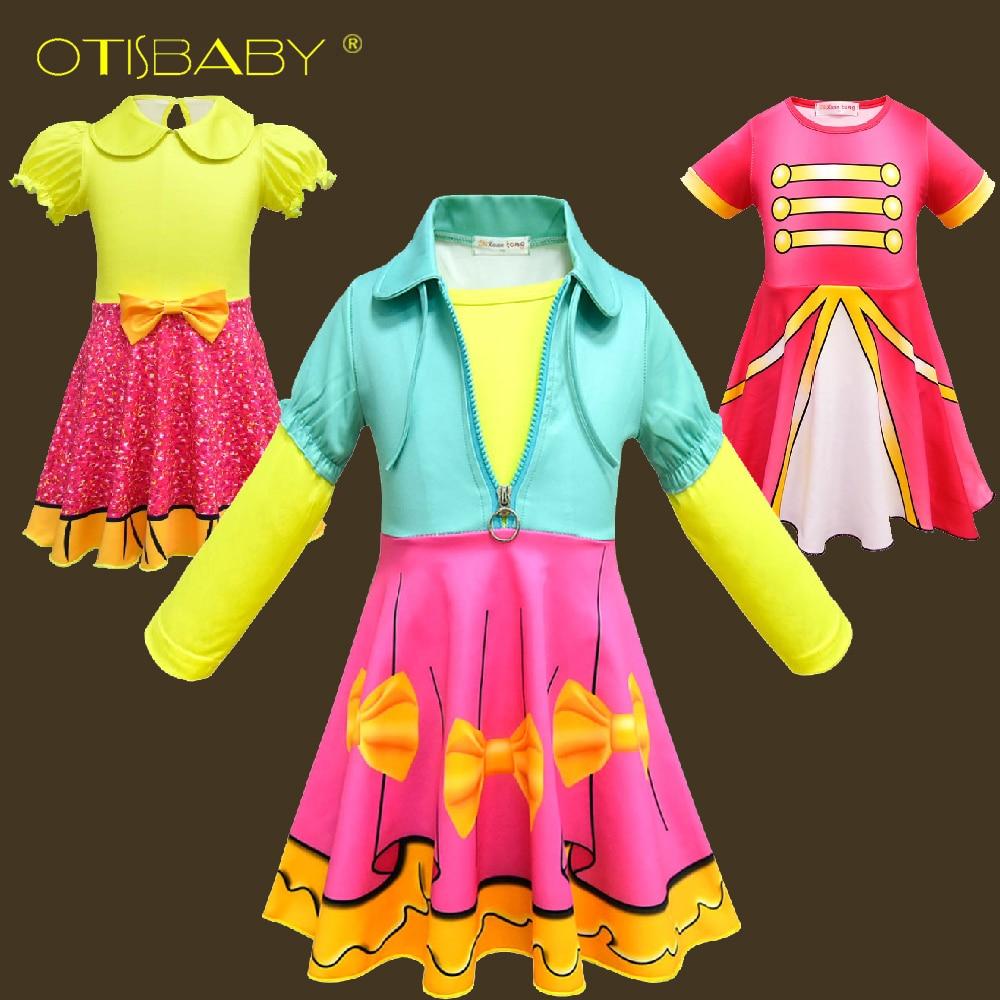 Neue Jahr Kostüm für Kinder Regenbogen Lol Kleid Infant Party Kleid Winter Lange Ärmel Teenage Kleidung Urlaub Lol Mädchen Kleidung