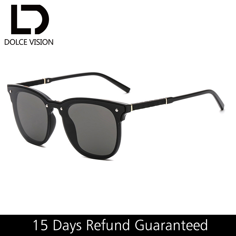 1f4d136b216 DOLCE VISION Retro Square Sunglasses for Men Black Fashion Shades Lunette  Male Vintage 2018 Sun Glasses for Men Brand Original -in Sunglasses from  Apparel ...
