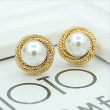 Fashion Stud Earrings For Women/Girl Cute Geometric Simulated Pearl Earrings Elegant Jewelry Accessories Gift Wholesale цена
