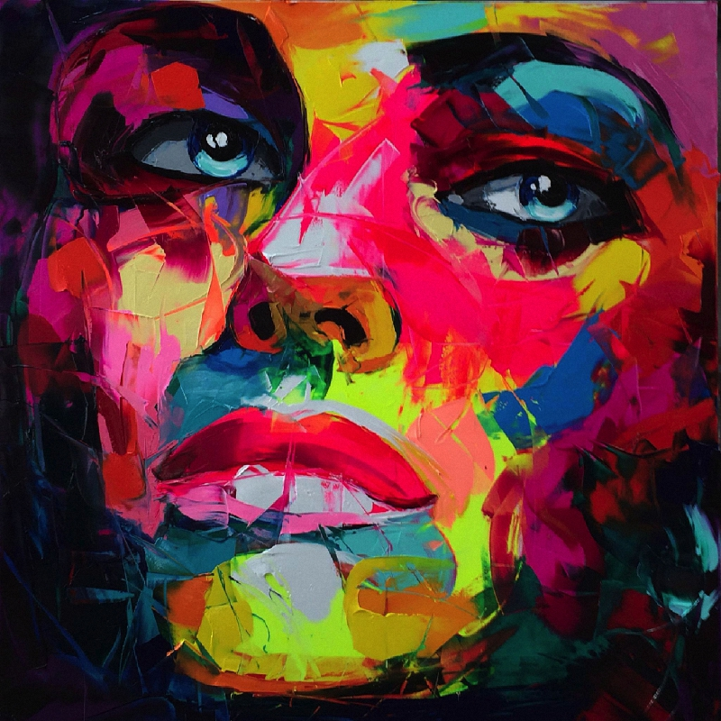 abstract facial paintings