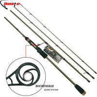 SUNMILE 2,1 m 2,4 m Spinning Angelruten 4 Abschnitt ML M 99% Carbon Angelrute Rod Mit MIKROWELLE Guide pesca Tackle Peche Olta