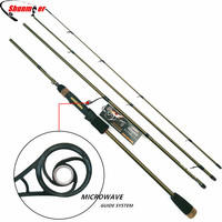 SUNMILE 2.1m 2.4m Spinning Fishing Rods 4 Section ML M 99% Carbon Fishing Pole Rod With MICROWAVE Guide Pesca Tackle Peche Olta