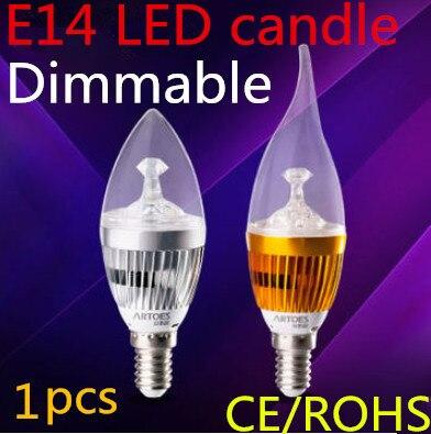 1pcs Free shipping Dimmable E14 E27 E12 B22 3x2W 4x2W  5x2W LED Candle Light LED bulb lamp LED spot Light