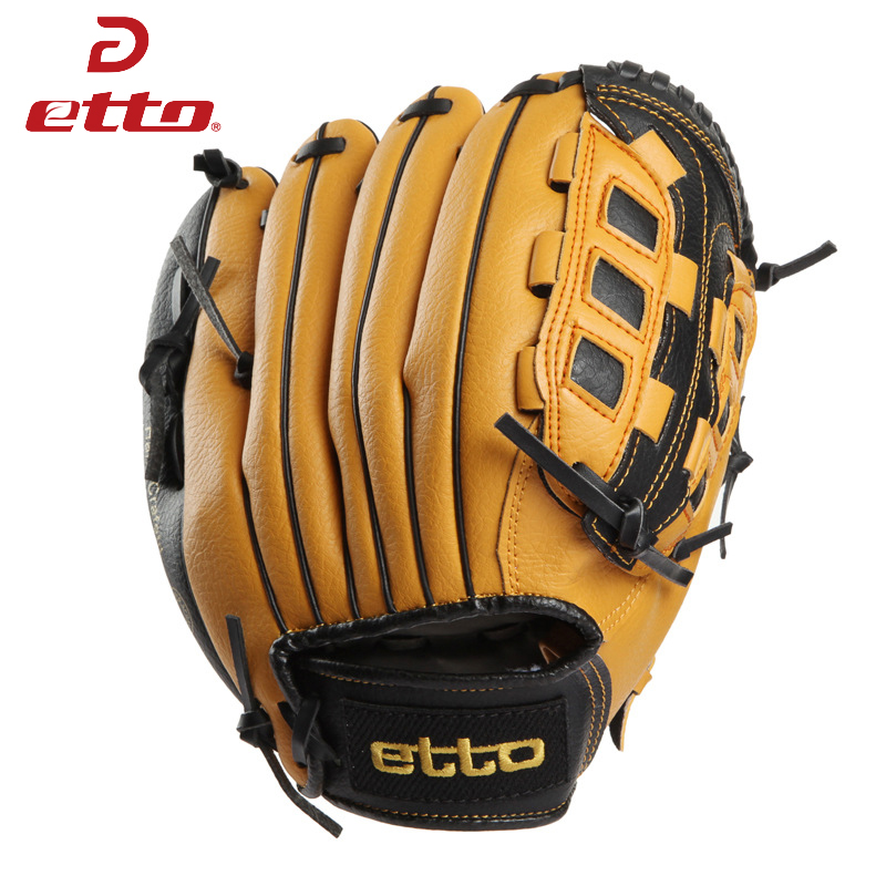 Etto 11.5 12.5 Inch Male Professional Left Hand Бейсбол қолғап Beisbol Training Спорттық қолғаптар Matchball үшін Softball Boy Child HOB002Z