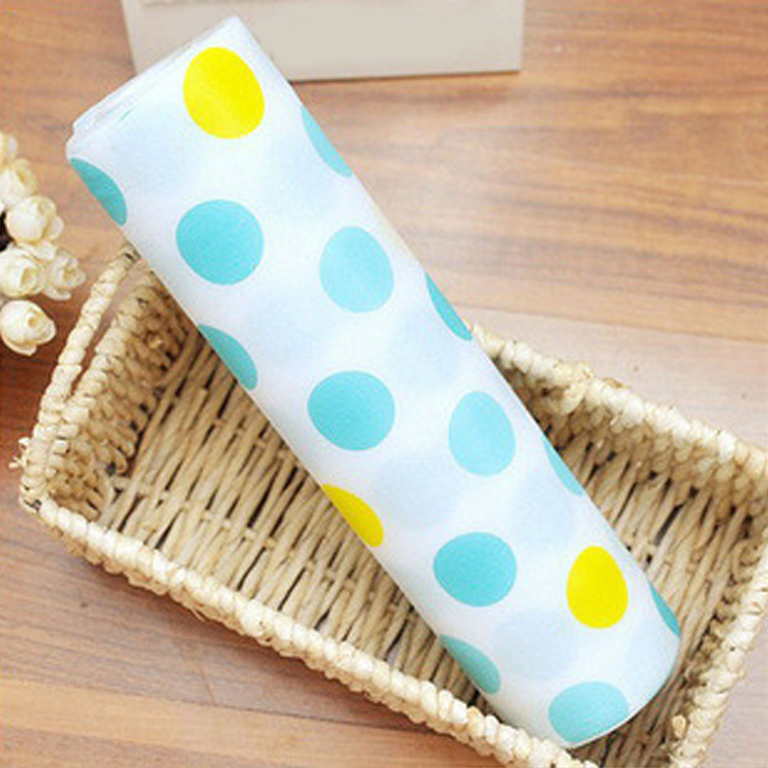 Top Sale 300x30cm Polka Dots Shelf Contact Paper Cabinet Drawer Liner Kitchen Table Mat China