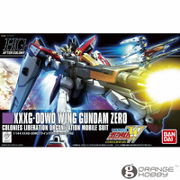 OHS Bandai HGUC 174 1/144 XXXG 00W0 Wing Gundam Zero Mobile Suit Assembly Model Kits