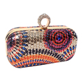 Colorful Beads Printing Women Evening Bags Diamonds Small Purse Bags Vintage Evening Dress Handbags For Wedding