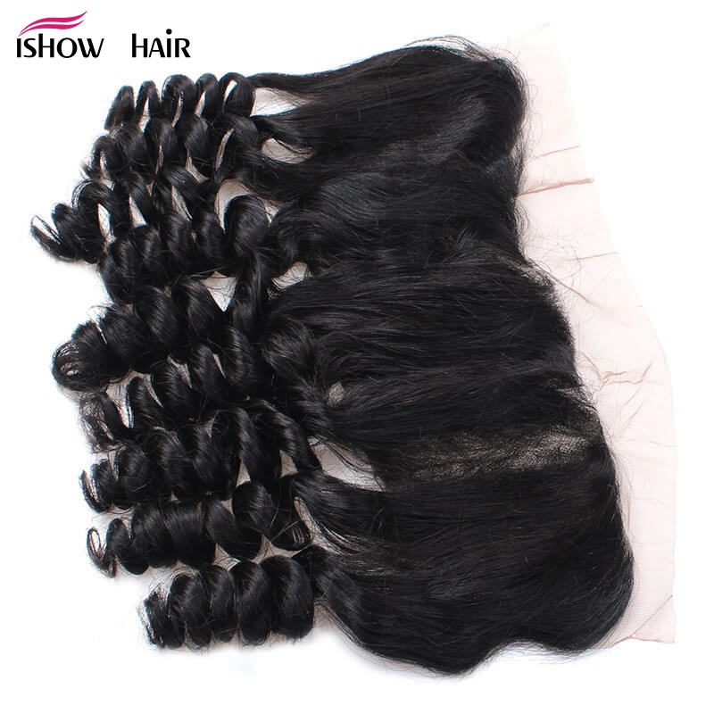 Ishow Indian Loose Wave Ear To Ear Lace Frontal 13x4 Non Remy Hair 100% Human Hair Free Part Natural Color 8-20 Free Shipping