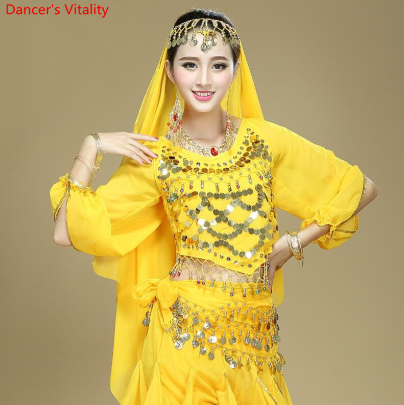 Hot Selling On Sale Cheap Sexy Sequins Top Belly Dance Top For Women 6 Colors Available