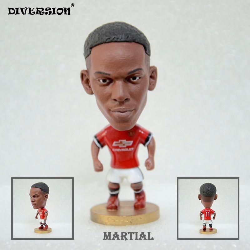 Soccer Star 11# MARTIAL (MU-2018) 2.5 Action Dolls Figurine soccerwe