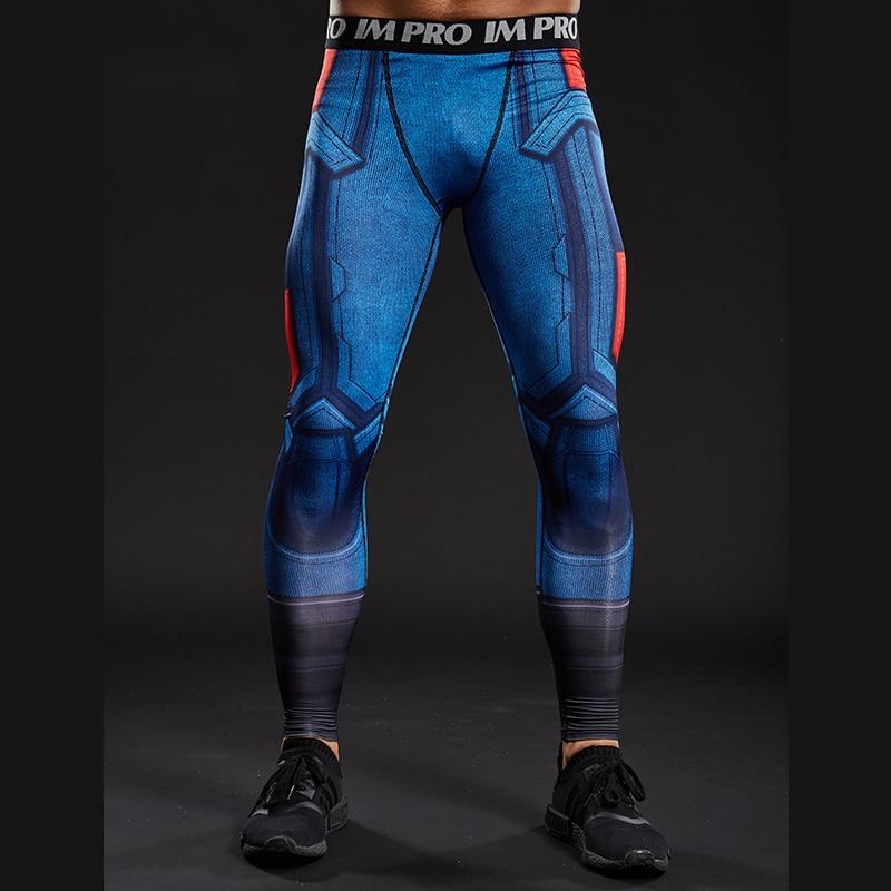 2016 Women American Football Pattern 3d Leggings Stretch: 3D Printed Pattern Compression Tights Pants Men 2016