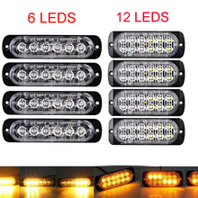 Camion dell'automobile Trailer indicatore Laterale luci stroboscopiche Ambra 6/12 LED Lampeggianti di avvertimento lampada 19 modelli flash 12 V-24 V Super luminoso