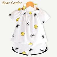 Bear Leader Girls Clothing Sets 2017 New Summer Style Fashion Cartoon Pattern Printing T-shirt+Short 2Pcs for Baby Girls Clothes