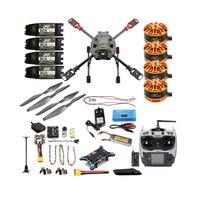 JMT Full Set DIY 2.4GHz 4 Aixs Quadcopter RC Drone 630mm Frame Kit MINI PIX+GPS AT9S TX RX Brushless Motor ESC Altitude Hold