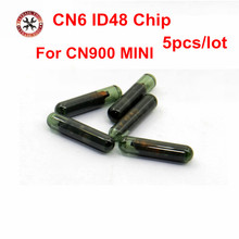 5pcs/lot For MINI 900 CN6 ID48 Car Transponder Glass Blank Cloner Chip CN6 Use ON CN900/ND900 MINI Key Programmer
