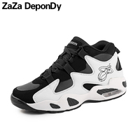 Men S Basketball Shoes Cool Male Ankle Boots Comfortable Outdoor Air Damping Sneakers Women Black White