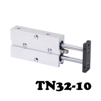 Free shippingTN32 10 Two axis double bar cylinder cylinder Aluminum Alloy TN Series Pneumatic Valve With Magnet 32mm Bore 10mm