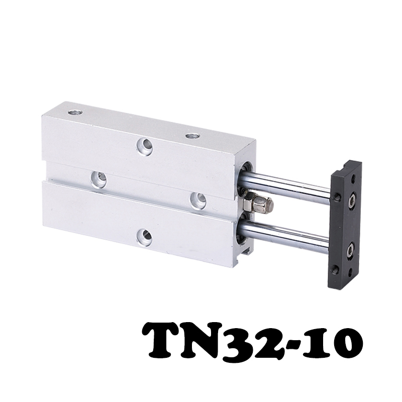 TN32-10 Two-axis double bar cylinder cylinder Aluminum Alloy TN Series Pneumatic Valve With Magnet 32mm Bore 10mm tn20 150 two axis double bar cylinder cylinder dual action cylinder type with magnet pneumatic air cylinder