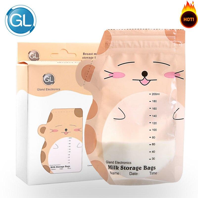 GL 30PCS / Pack Milk Storage Bags 200ML Baby Bröstmatning Mjölk - Graviditet och moderskap