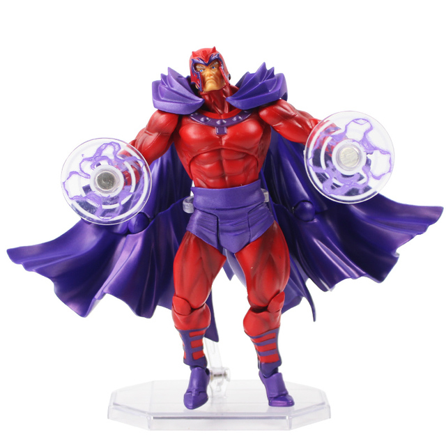 16cm Avengers Revoltech Series No.006 X-Men Magneto Super Hero PVC Action Figure Collectible Model Toy Doll Gift