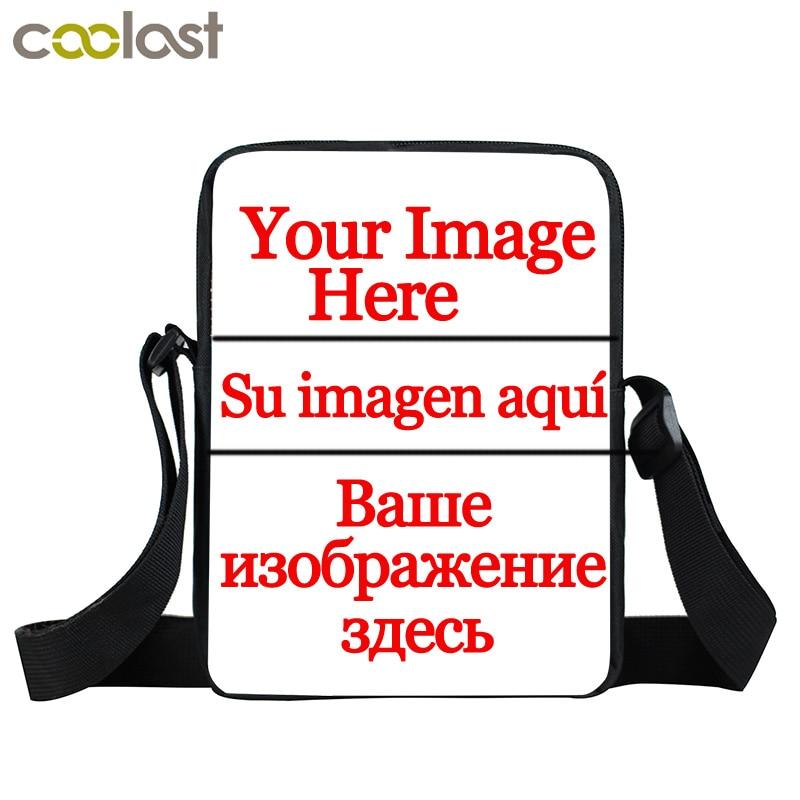 Custom Your Image Name Logo Mini Messenger Bag Boys Girls Personalized Crossbody Bag Kids Cartoon Shoulder Bags Best Gift Bags
