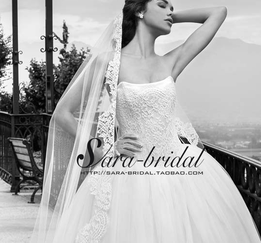 brides dresses sexy strapless robe de mariage 2016 lace Wedding Dress ball gown appliques off the shoulder vestido de noiva in Wedding Dresses from Weddings Events