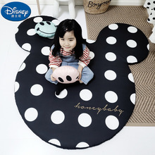 Black and White Mickey Minnie Mouse Rug Child Baby Crawling Game Mat Carpet Indoor  Soft Four Season children blanket gift