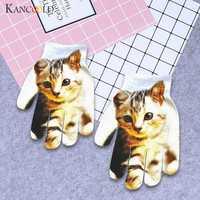 KANCOOLD перчатки детские зимние теплые 3D Животные принт вязаные Китти домашние милые перчатки Модные хлопковые перчатки женские 2018NOV29