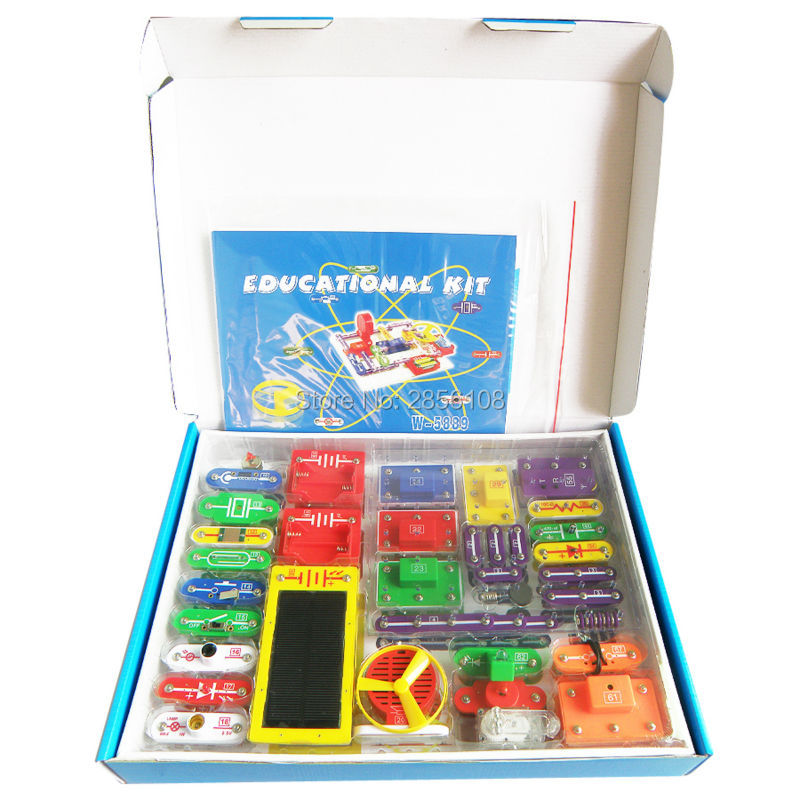 Electronics Discovery Kit, Smart Electronics Block Kit,Educational Science Kit Toy,DIY Building Blocks Electric Circuits toys