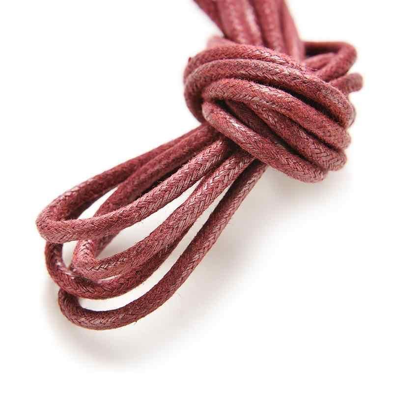 Zapatos de cuero casuales de calidad superior zapatos de caramelo Multi Color sólido algodón Nylon encerado redondo cordones de zapatos cuerdas calientes