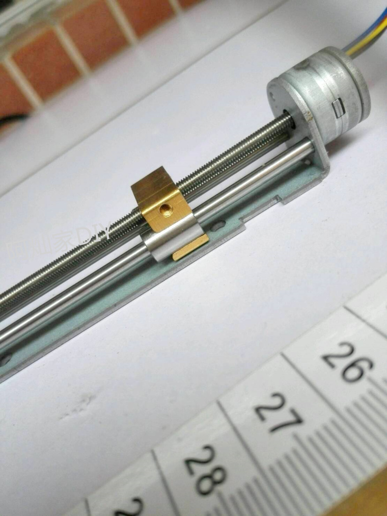 Miniature sliding table linear bearing stepper motor linear screw slider nut 15 motor DIY small 10 step motor long 55mm 10mm wire rod slider minitype sliding table screw nut