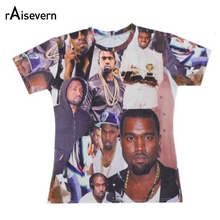 Raisevern New Hip Hop Tops Shirts 3D Short Sleeve T Shirt Kanye West Print 3D Creative T-shirt Fashion Clothing Dropship