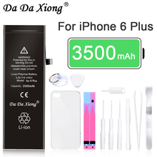 Original Da Da Xiong Battery For Apple iPhone 6 Plus 3500mAh Max Capacity Phone Replacement Lithium Polymer Batteries Free Tools стоимость