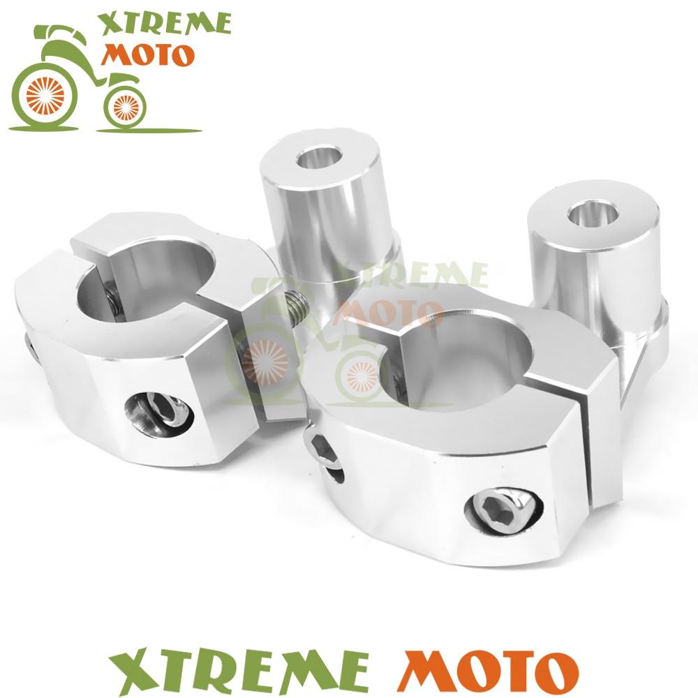 1 1/8 28MM CNC HandleBar Fat Bar Clamp Mount Riser For CRF KTM YZF KXF RMZ Motorcycle Motocross Dirt Bike