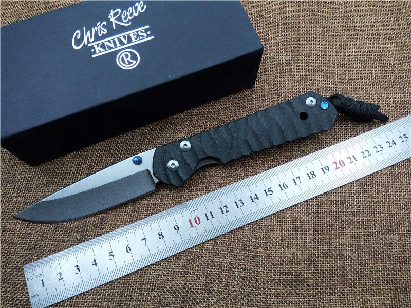 KESIWO Carbon Fibber Folding font b knife b font Large Sebenza D2 blade camping font b