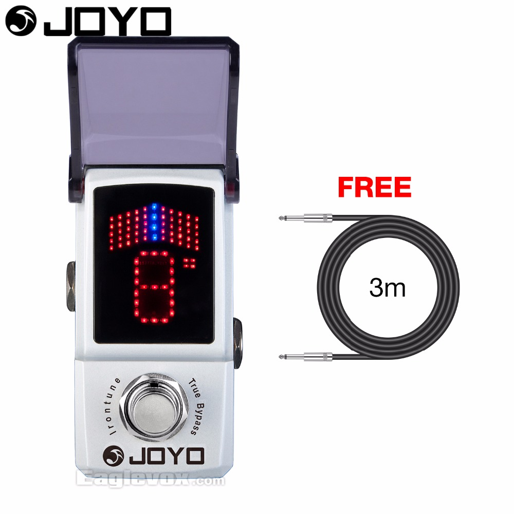 Joyo Ironman JF-326 Irontune Tuner Guitar Effect Pedal True Bypass with Free 3m Cable mooer ensemble queen bass chorus effect pedal mini guitar effects true bypass with free connector and footswitch topper