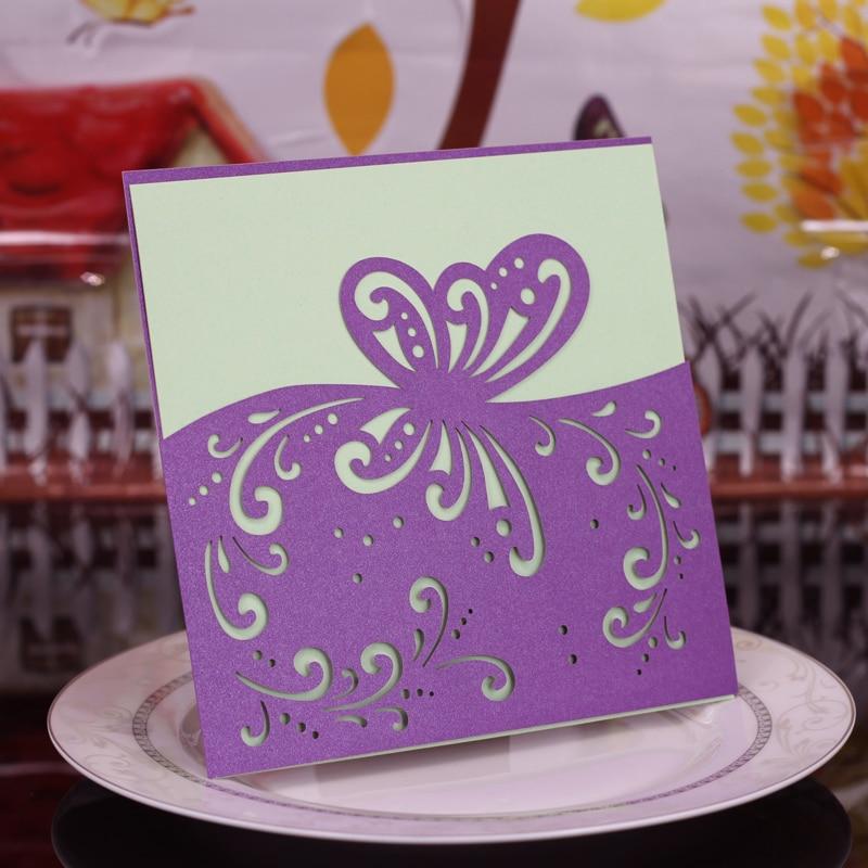 Tarjeta De Invitación Creativa Recorte Lacer Mariposa Calada