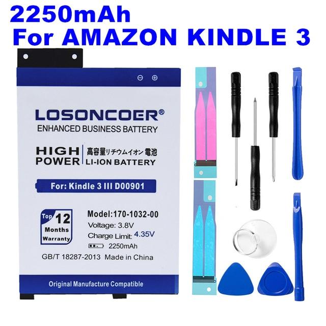Chegar rápido + Backup de Bateria Do Telefone Móvel para Amazon Kindle Teclado eReader 3 D00901 GP-S10-346392-0100 170-1032-00 s11GTSF01A