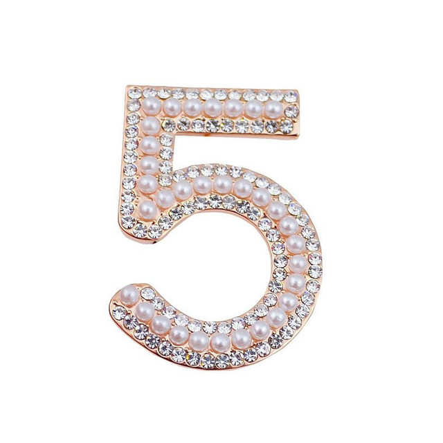 B40 Number 5 pearl Famous Luxury Brand Designer Jewelry 2017 Brooch
